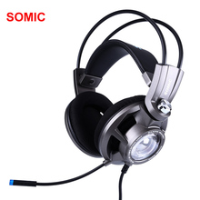 Somic G955 USB 7.1 Gaming Headset Headphones with Microphone Noise Cancelling Stereo Bass Vibration headband  for PC PS4 Gamer цена