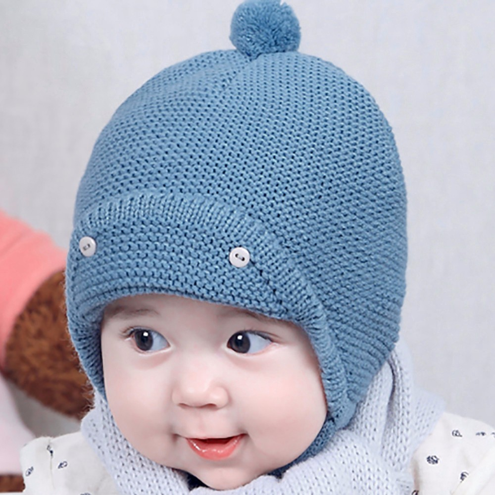 a52e1207c Cute Winter Baby Hat Kids Girls Boys Warm Woolen Hat Cap newborn ...