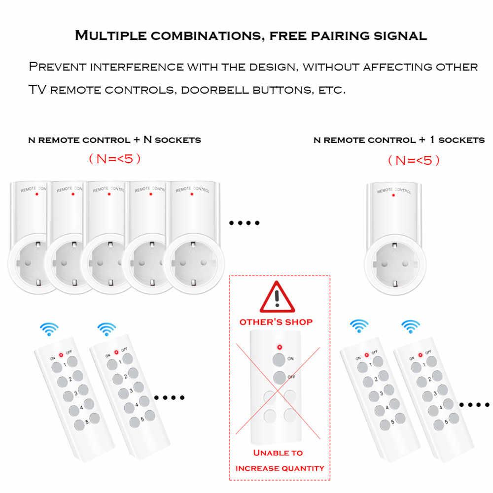 SMATRUL 433mhz bezprzewodowy pilot inteligentne gniazdo ścienne programowalne elektryczne ue UK wtyczka przełącznik gniazda 220v 230v LED Lights