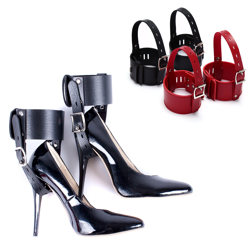 1 Pair High Heels Locking Belt Ankle Cuff High-Heeled Shoes Restraints Kit For Couples Positioning Shoes Accessories