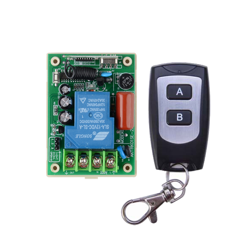 220V 30A Relay 3000W Wireless Remote Control Switch Receiver Transmitter315/433 Remote Control lighting/Lamp LED water pump 2pcs receiver transmitters with 2 dual button remote control wireless remote control switch led light lamp remote on off system
