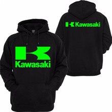 2018 Для мужчин; высокое качество Для Мужчин's Kawasaki гонка мотоциклетные Костюмы пуловер с рыцарем хлопчатобумажная Повседневная Толстовка Черный 3