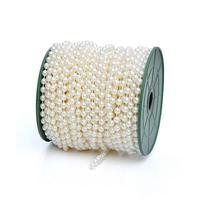 10 M/Roll Perle Perline Catena Servizi Fotografici Decorare Alberi Di Natale partito decor Linea Cotone Torta Nuziale Accessorio Della Decorazione L50