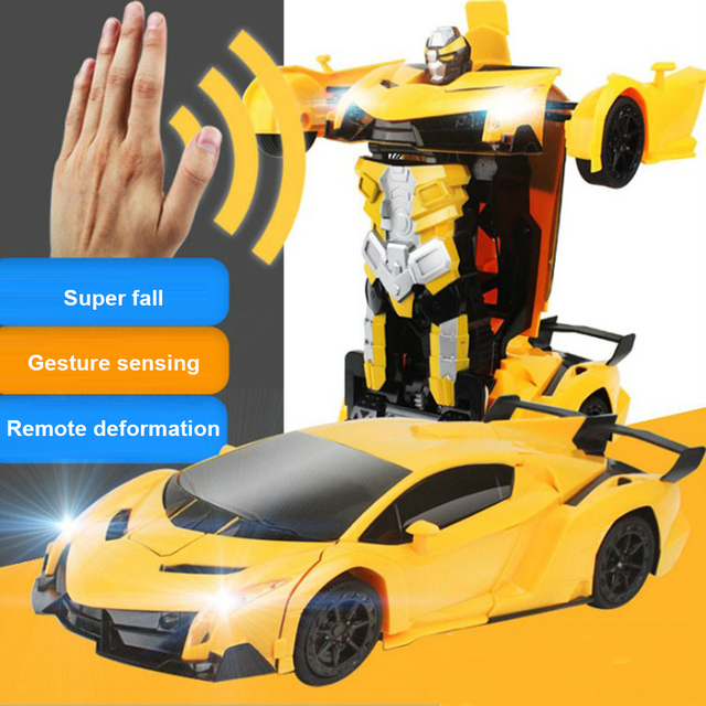 Rc Transformation 2 in 1 RC Car Sports Cars Transformation Robot Gesture sensing Remote Control Car Models RC Combat Toy gift