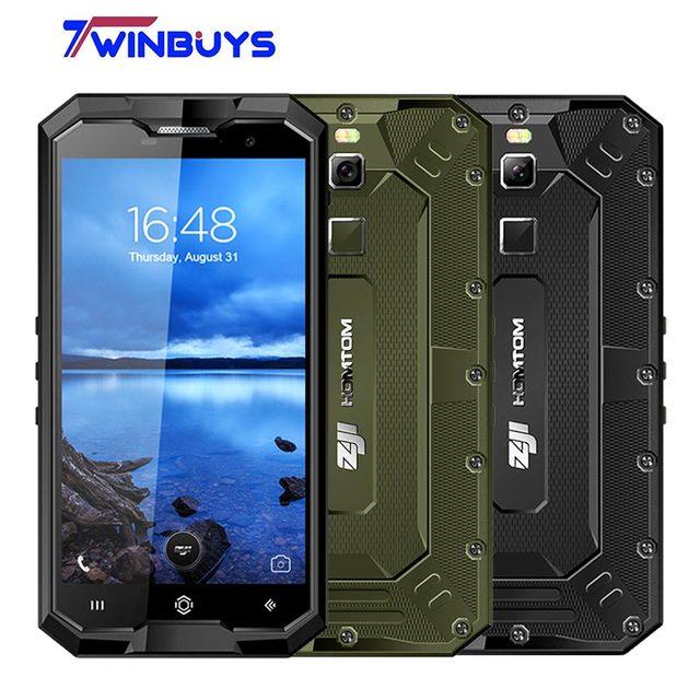 HOMTOM ZOJI Z8 IP68 Impermeabile Smartphone 4g 4 gb + 64 gb 5.0 pollice Octa Core Android 7.0 16MP + 13MP di Impronte Digitali Cellulare 4250 mah