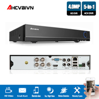 New Super 4CH 4MP AHD DVR Digital Video Recorder for CCTV Security Camera Onvif Network 16 Channel IP HD 1080P NVR Email Alarm