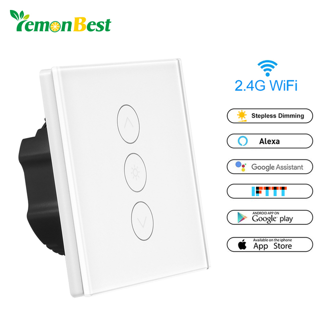 1 Gang WiFi Wireless Remote Control Light Switches Wall Touch Switch ...