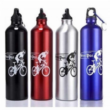 New Cycling Camping Bicycle Sports Aluminum Alloy Water Bottle 750ml Portable Camping Hiking Outdoor Sports