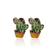 SMJEL New Fashion Copper Cactus Post Earring female Cartoon Cacti Handmade Jewelry Earrings Fashion Girl Gifts brincos 2017
