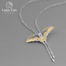 Lotus Fun Real 925 Sterling Silver Natural Creative Handmade Fine Jewelry Hollow Butterfly Kite Pendant without Necklace