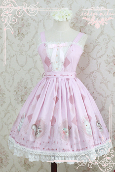 Strawberry Witch Custom Tailored Sweet Short Sleeve Lolita Dress The Forest Song Series Printed Lolita JSK Dress