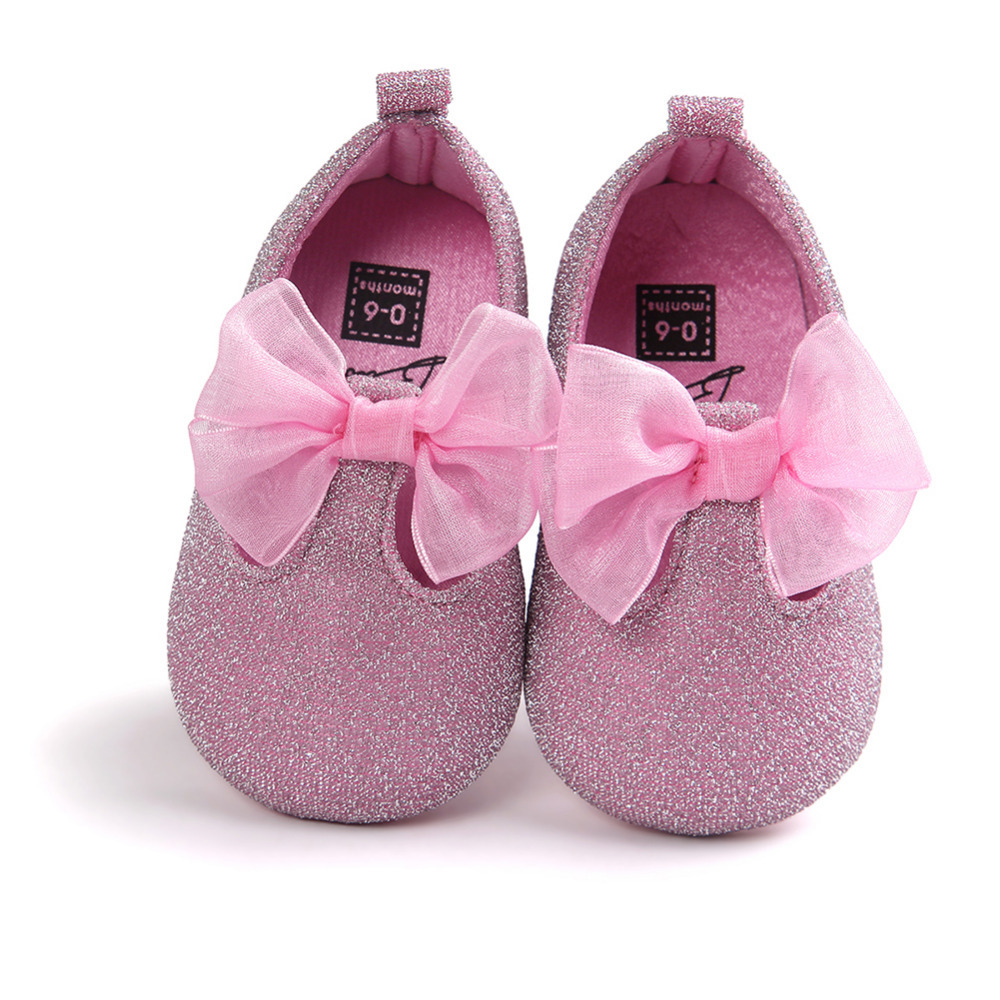 Baby Princess Shoes Bow-knot Prewalkers Girl Kids Soft Bottom Anti-slip Toddler Shoes Fi ...