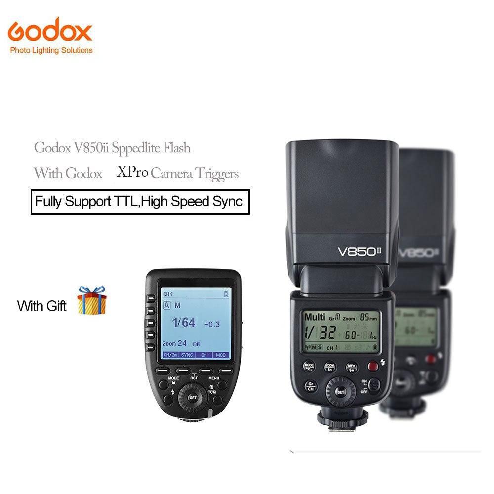 Godox V850II GN60 2.4g HSS Caméra Speedlite Flash avec 2000 mah Li-ion Batterie + Xpro-c/n /s/f Caméras Déclenche Pour Photographique