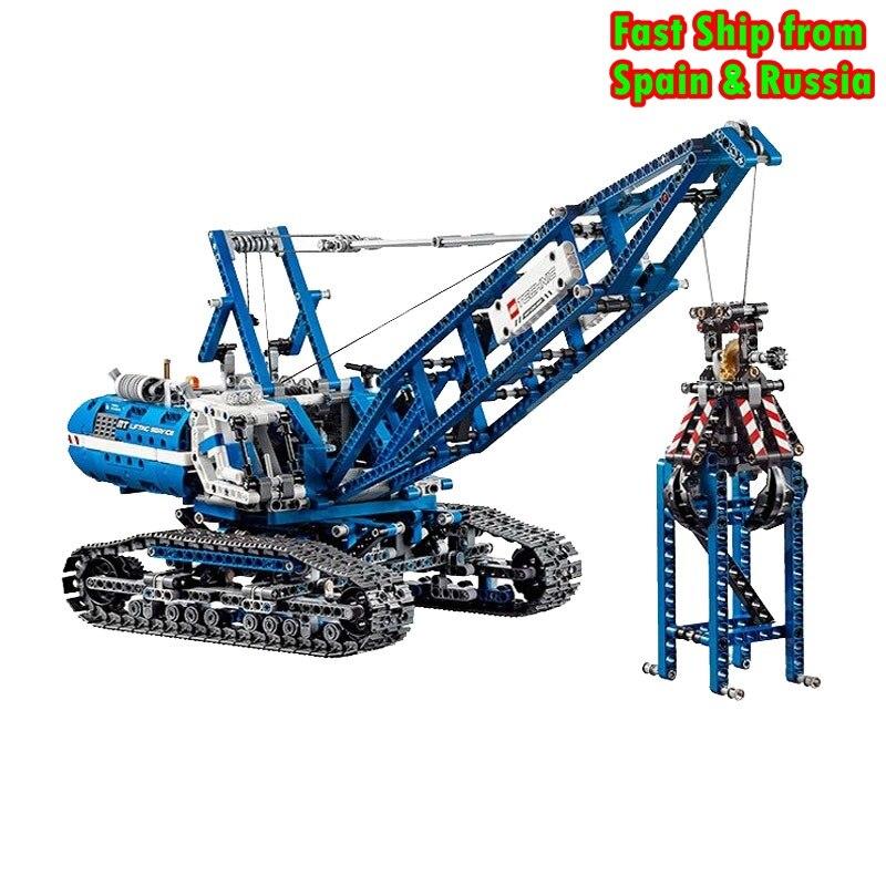 Bloki Technic mechaniczne dźwig gąsienicowy 1401 sztuk modelu klocki zabawki dla dzieci montażu technika dla dzieci prezenty dla dzieci w Klocki od Zabawki i hobby na  Grupa 1