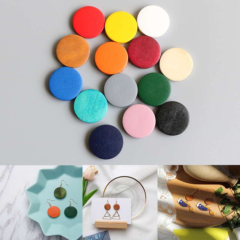 1Pack 6Pc accessories for Jewelry Bisuteria Para Hacer Joyas Hand Made Handicraft accessories Diy Jewelry Wood Earrings Material in Jewelry Findings Components from Jewelry Accessories