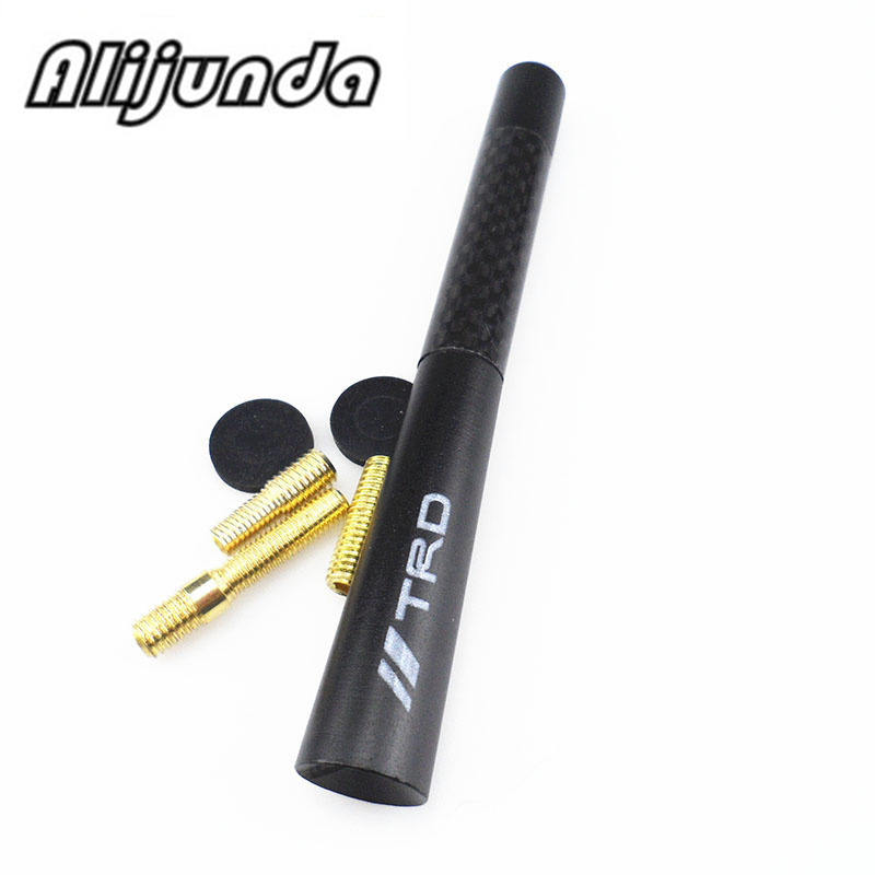 By625 200 20 Carbon Frontaufsatzelemente: Delicate Black Fiber Carbon Short Antenna Radio Car Aerial