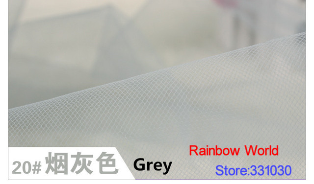 20 Light Grey 5 Meters Of Medium Hardness Mesh Cloth Fabric For Patchwork Diy Sewing