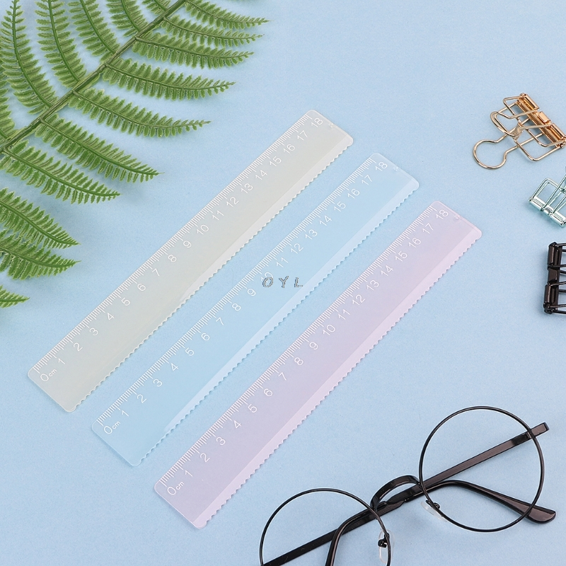 Candy Color Plastic Ruler Multicolour Flexible Creative Stationery School Supply