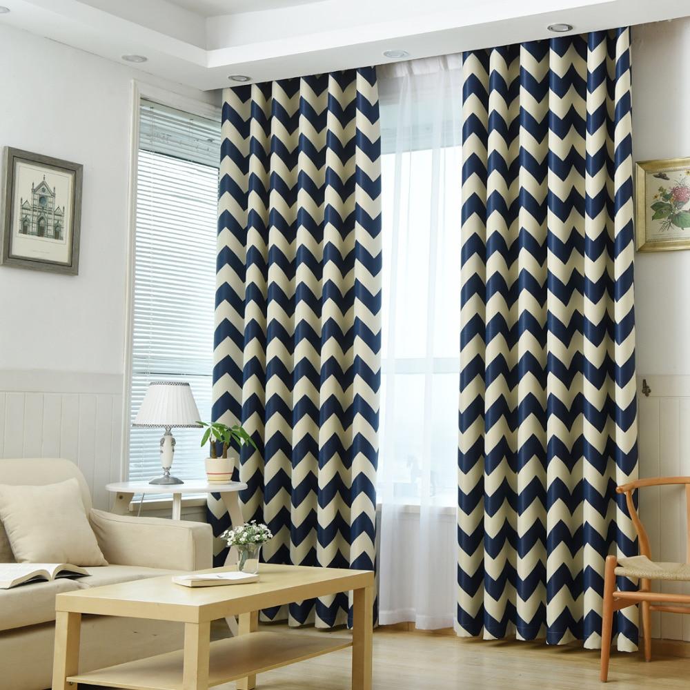 European Geometric Style Bedroom Curtain Kids Blinds Window Shade Cloth Modern Geometric Printing Pattern Screening Fabric