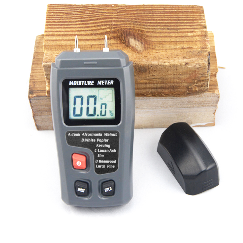 BSIDE Tragbare Digital Holz Feuchtigkeit Meter Holz Hygrometer 0 ~ 99.9% Holz feuchtigkeit meter EMT01/MT10