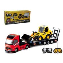 2PCS /Set Big Remote Control Truck+RC Excavator Detachable Kids Electric Big Rc truck Trailer Remote Control Wireless Truck Toy