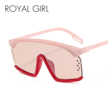 ROYAL GIRL 2020 New Ladies Square Sunglasses Ladies Men's Brand