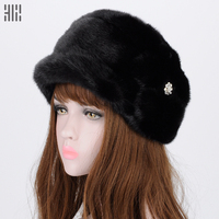 Winter Hat 2017 Top Women Casual Fashion Special Offer Solid Adult Winter Fur Hat Natural Fox Autumn And Female Bomber
