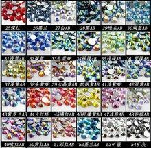 SS3 Mix Colors Nail Crystals 1440pcs/bag Glass Non HotFix FlatBack Rhinestones,Not Hot Fix Glitters Glue stones