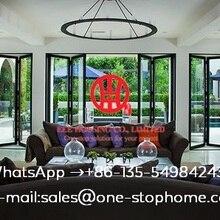 Звукоизолированные двойные алюминиевые Складная домашняя bi-створчатая дверь, Австралия, сертифицированный Тепловая оценка и акустической алюминиевая раздвижная дверь
