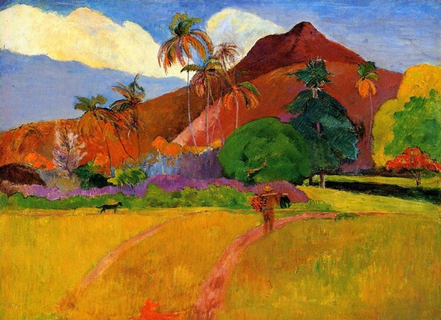Mountains In Tahiti By Paul Gauguin Oil Painting Canvas High Quality Hand Painted Art Reproduction