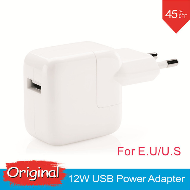 2.4a carregamento rápido euro ipad carregador genuine original 12 w usb power adapter para ipad mini iphone 5s 6 6 s 7 plus ipod para a ue