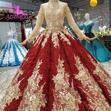 AIJINGYUชุดแต่งงาน2021 2020 Plusขนาดออนไลน์Gownsราคาลูกไม้เซ็กซี่ภาษาโปรตุเกสคำชุดยาวลูกไม้สำหรับงานแต่งงานชุด