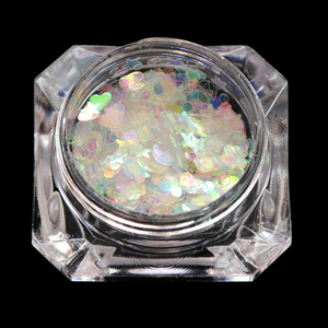 Image 3 - 1pcs Nail Glitter Flakes Mix Star Butterfly Moon Heart Round Symphony Sequin Pigment Nails Art Powder Holographic Manicure BE680