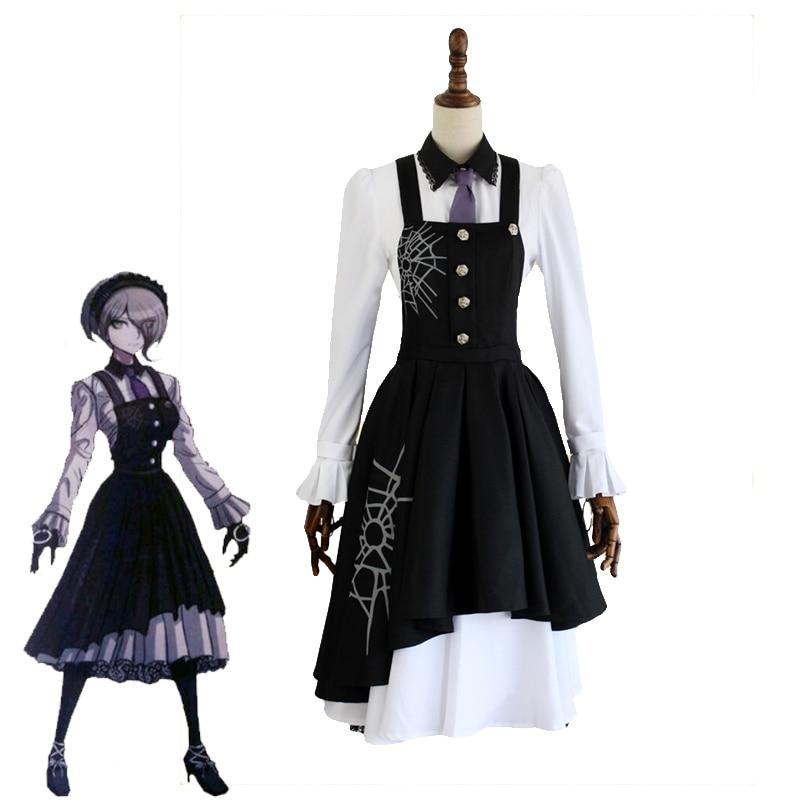 Japanese Game Danganronpa V3: Killing Harmony Kirumi Tojo Cosplay Costume Women's Dress Halloween Carnival Uniforms Custom Made