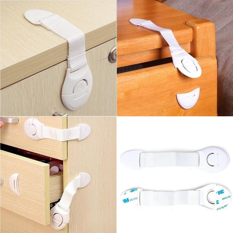 Latest 5Pcs Baby Kids Child Adhesive Safety Lock For Cabinet Door Drawers Ref...