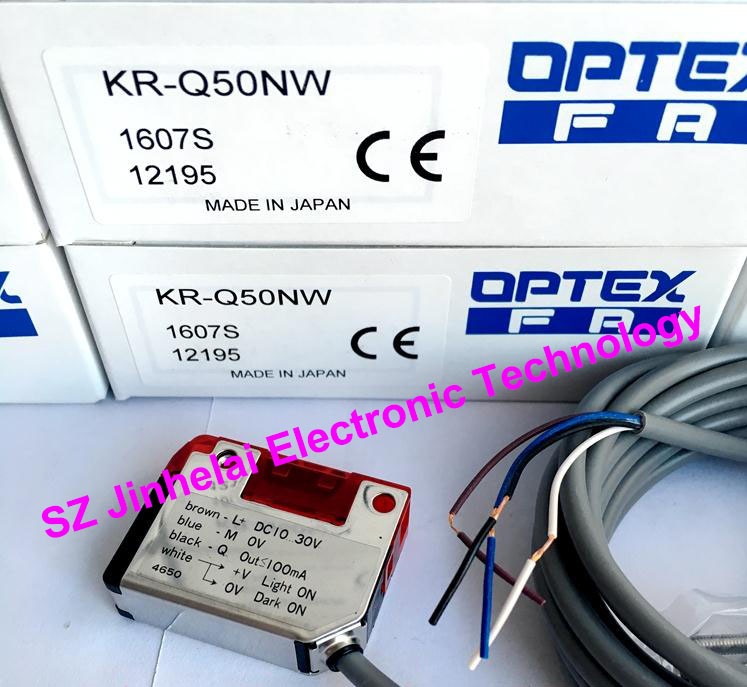 New and original KR-Q50NW OPTEX PHOTOELECTRIC SWITCH NPN new and original kr q50n optex photoelectric switch npn output