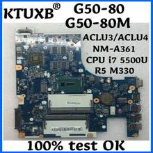 KTUXB ACLU3/ACLU4 NM-A361 voor Lenovo G50-80 G50-80M notebook moederbord CPU i7 5500U R5 M330 2G DDR3 100% test werk(China)