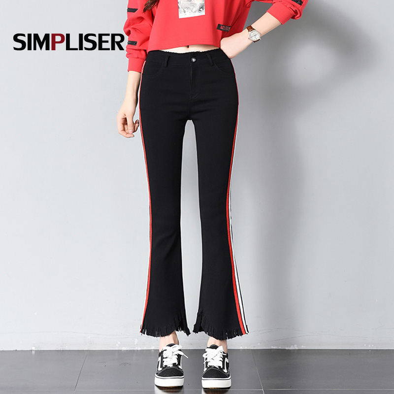 Striped Women Pencil   Pants   2019 Female Skinny Trousers   Capri     Pants   Striped Plus Size 3XL Femme Pantalon Mid Waist Leggings Black