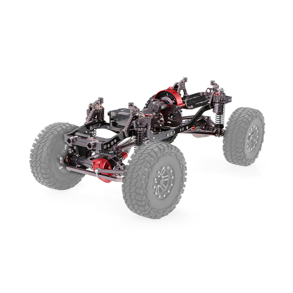 1/10 RC Car Frame Kit CNC Aluminum for AXIAL SCX10 RC Crawler Climbing Car DIY
