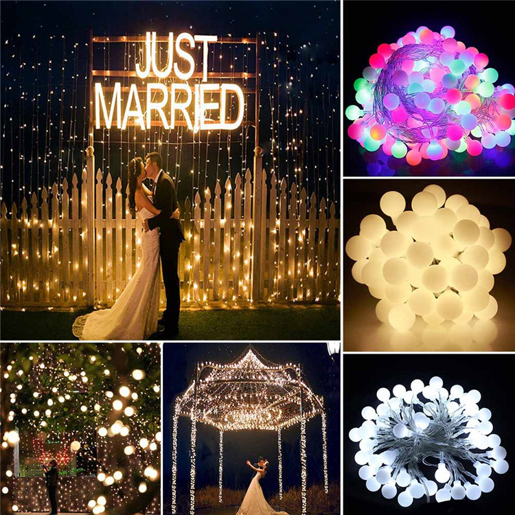 10 M 33FT 100 LEDs Bal Lichtslingers 110 V 220 V Vakantie Decoratie - Buitenverlichting