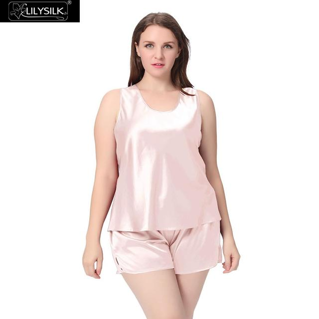 1086a5e24d Lilysilk Silk Pajamas Set Tank Top With Shorts for Women Sleeping 22 momme  Plus Size Sleepwear Home Wear Designer Brand