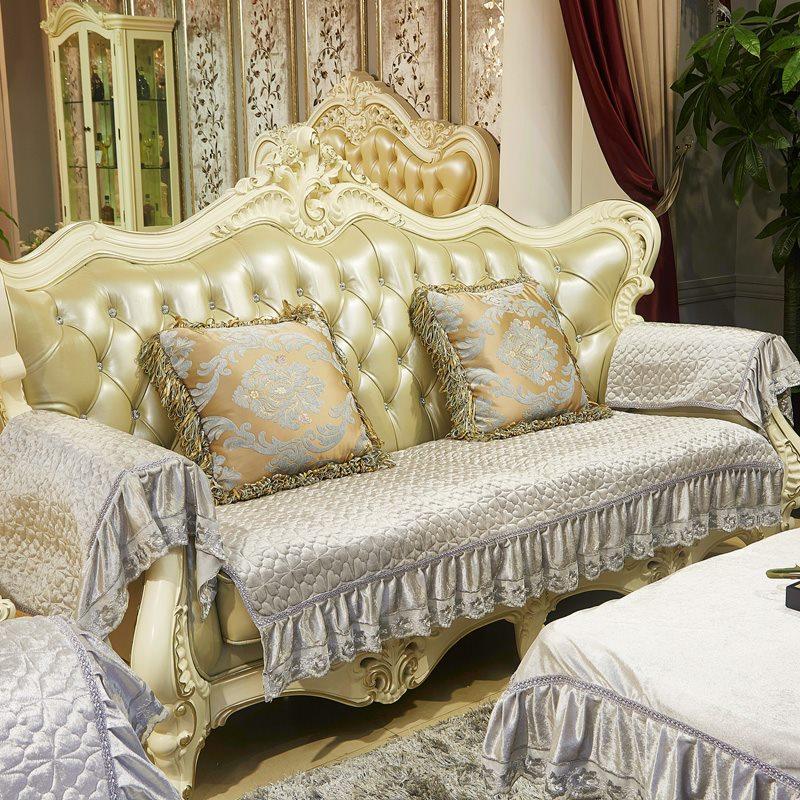 European Jacquard Sofa Covers Fleeced Fabric Knitsofa Seat