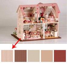 Мини-обои для кукол, легкие мини-обои для кукольного домика, коллекция, многоцветная возможность начала, кукольный домик, обои