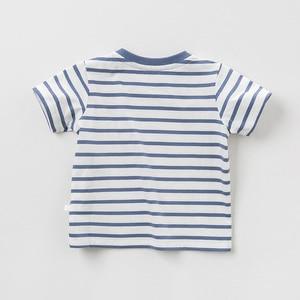 Image 4 - DBJ10359 דייב bella קיץ תינוק בני אופנה חולצה ילדי cartoon פסים חולצות בנות באיכות גבוהה בסוודרים ילדים מקרית tees