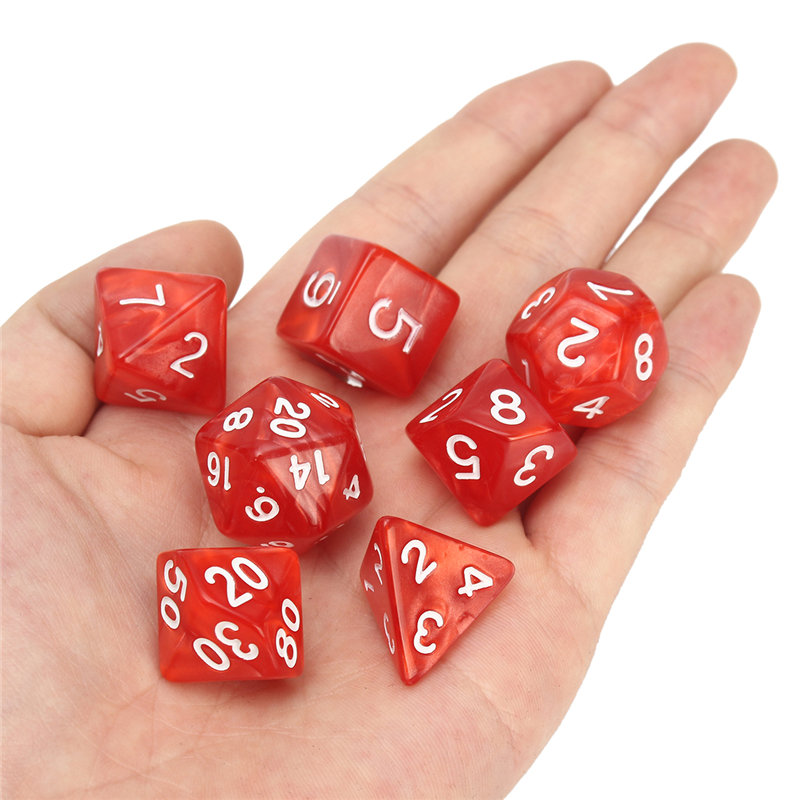 Entertainment Board Game 56pcs Polyhedral Dice 8 Sets For Dungeons And Dragons DND RPG MTG Board Games