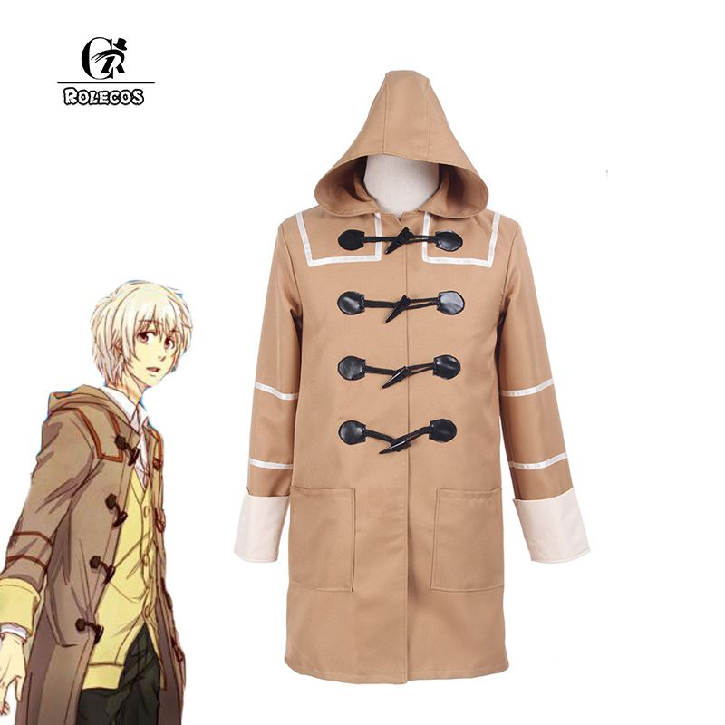 ROLECOS Japanese Anime No 6 Cosplay Costumes Shion Cosplay Costumes Autumn And Winter Khaki Hooded Coat