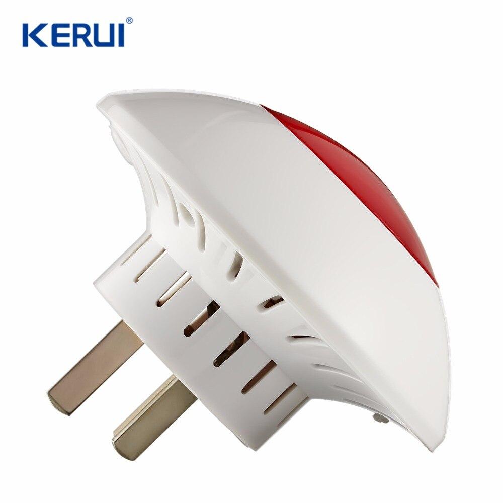 KERUI J009 Indoor Siren 100m Sound Light Siren Volume Wireless Strobe Siren For G18 G19 W1 W2 GSM WIFI PSTN Home Alarm System new wireless high performance portable remote control 4 buttons for kerui g18 g19 w1 w2 k7 home alarm system