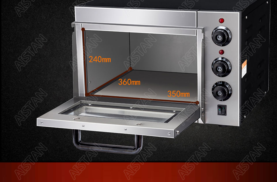 EP1AT electric stainless steel single layer higher chamber pizza oven with timer for baking bread, cake, pizza 11