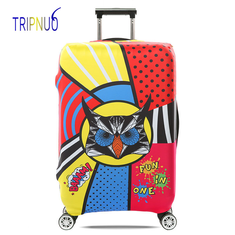 TRIPNUO Travel Accessories Suitcase Protective Covers Elasticity Eagle Head Luggage Covers for 18-32inch Thickest Suitcase Cover