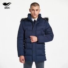 HAI YU CHENG Quilted Puffer Jacket Winter Coat Male Anorak Outerwear Coats Windproof Jacket Slim font
